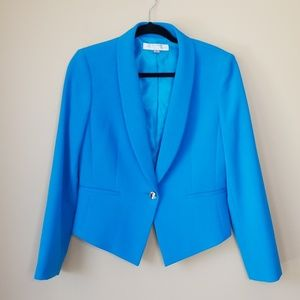 Tahari Bright Blue Ponte Blazer